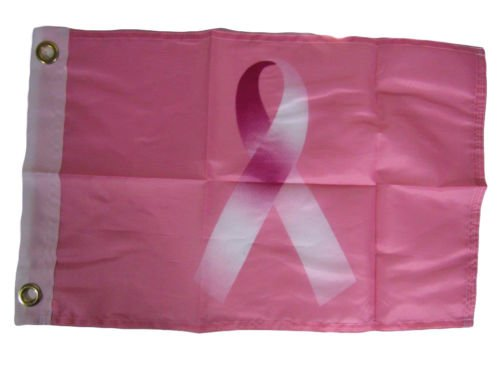 K's Novelties 12x18 Breast Cancer Pink Ribbon Awareness Motorcycle Boat Flag Grommets 12