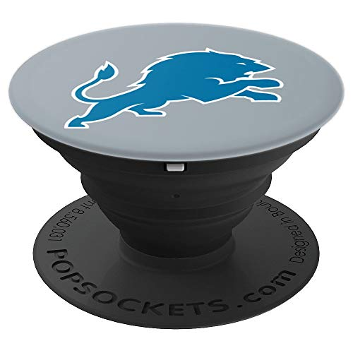 - Detroit, Michigan - Lion Football Gift - PopSockets Grip and Stand for Phones and Tablets