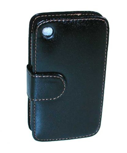Uksc Luxury Pu Leather Folio Case For Apple Ipod Iphone 3G From Black ()