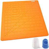 AIO Robotics Silicone Mat for 3D Printing Pen Drawing & Designing Including Two Silicone Finger Caps