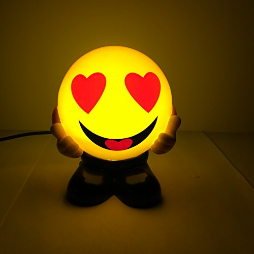 Emoji Laughing Face USB Charging Warm Night Lights Bed Lamps