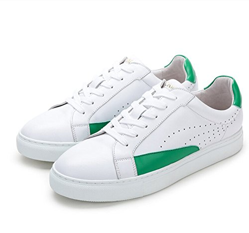 Kamel Mens Klassiska Och Moderna Låg Toppar Sneaker Färg Vit / Grön Storlek 40 M Eu