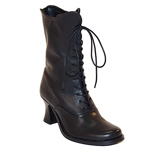 Mortitia Braces amp; Boots Ballerina Mit Echtleder Brosche Nero CqP6t6x