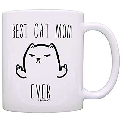 Cat Fan related Products Funny Cat Mug Best Cat Dad Ever Cat Gag Gifts Gift 15-oz Coffee... [tag]