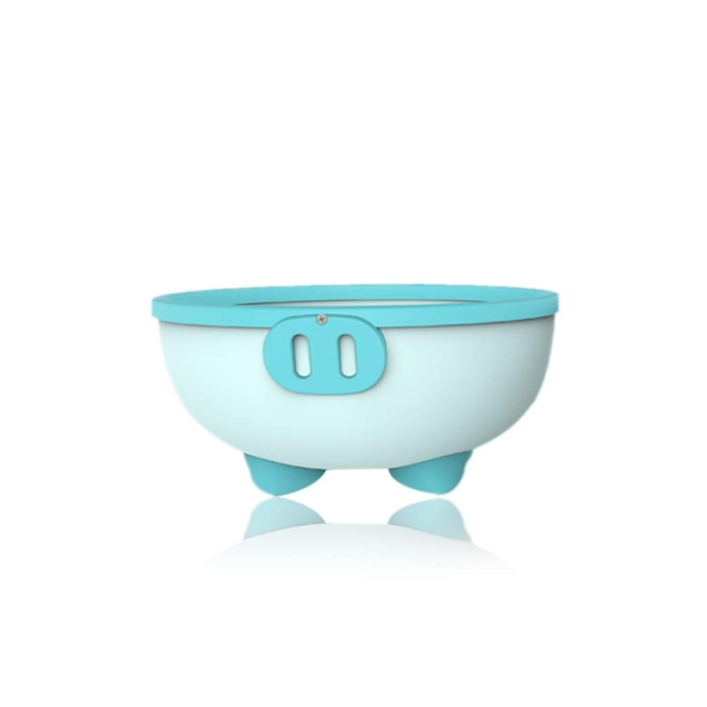 ZHAO ZHANQIANG Purpose Baby Plastic Wash Basin, Thickened Anti-Skid High Capacity Cartoon Baby Washing Basin, Lovely Piggy, Blue by ZHAO ZHANQIANG (Image #1)