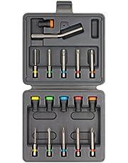 Magneet Driver Schroefhouder | Accessoire magnetische schroevendraaier | Past op schroevendraaiers en powerbits | Geen schroeven die wiebelen of vallen Verzonken (set 17)
