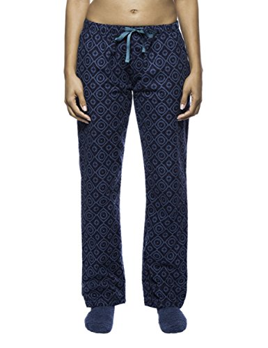 Women's Premium Flannel Lounge Pant - Moroccan Navy/Teal - X-Large