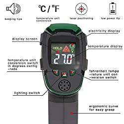 Digital Infrared Thermometer Laser Temperature Gun (Battery Include) with LED Display Non-Contact -26? to 716?(-32?- 380?) Ideal for Food Meat Cooking Kitchen, Automotive, Industry Measurement