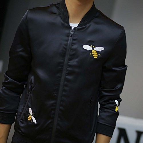 Marea Primavera Coreana Ricamata shirt T Versione Di Mock Dimagranti E Camicia Uomini Nero Bee Bassa Autunno Uomo collo Maschio xl Un fCUqwWEw