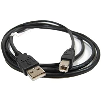 SANOXY USB 2.0 Cable Type A Male to Type B Male 6 ft, Black