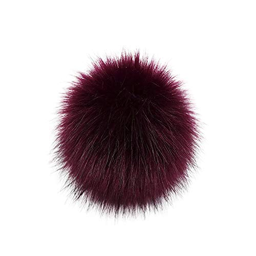 DIY Faux Fox Fur Fluffy Pompom Ball for Hats Beanies Shoes Scarves Bag Charms Accessories (A) from Kinrui