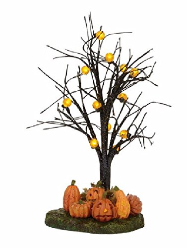 Department 56 Accessories for Villages Halloween Lit Jack-O-Lantern Village Tree -