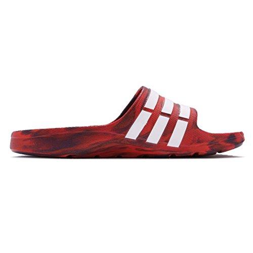 Adidas Mannen Duramo Glijbaan, Rood / Paars, 4,5 M Ons