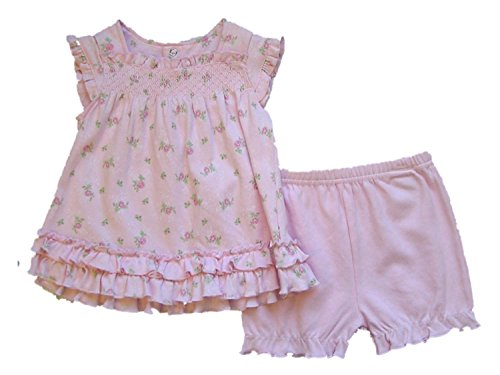 First Impression Baby Girl Pink Sundress and Panties 6-9 Months