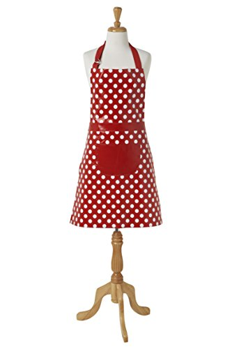 Pvc Coated Aprons (Ladelle Penny Easy Care Apron, Red)