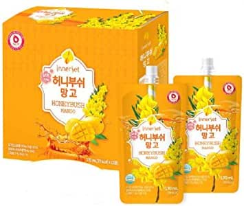 InnerSet Honeybush Mango Nutricosmetic Beauty Drink - 170 ml x 10 pouches - Fermented Extract, Skincare Patented Formulation/Made in Korea/Ships from US