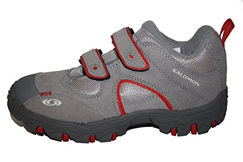 Salomon - Zapatillas para niño - Grau (pewter/mid grey/bright red)