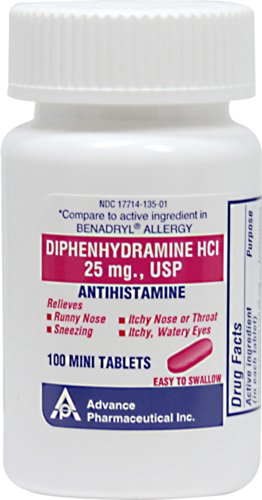 Advanced Pharmaceutical Inc. Antihistamine Diphenhydramine H