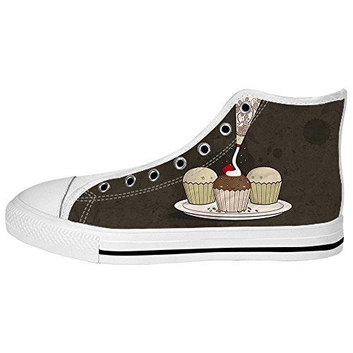 Dalliy S¨¹?e Cupcake Mens Canvas shoes Schuhe Lace-up High-top Sneakers Segeltuchschuhe Leinwand-Schuh-Turnschuhe E