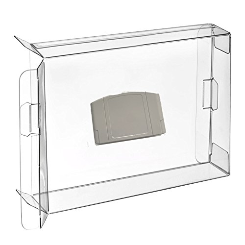 Childhood 10Pcs Clear Case Sleeve Protector for Nintendo N64 Games Cartridge
