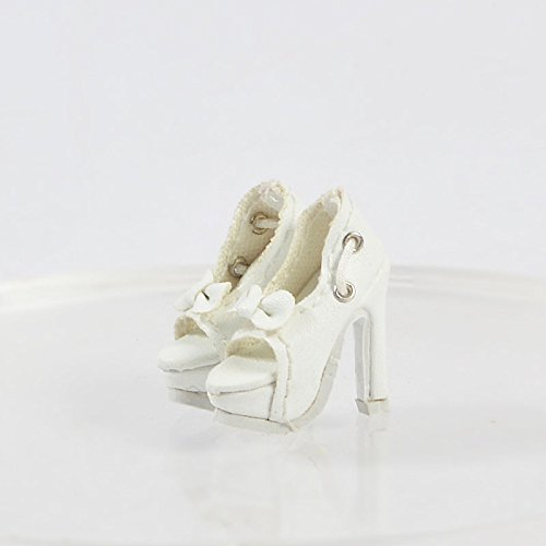 [Doll Shoes Doll Ivory Shoes/Sandals/인형 신발 for Fashion Royalty FR2 Poppy Parker, DG,Momoko Doll] (Chucky Costume Shoes)