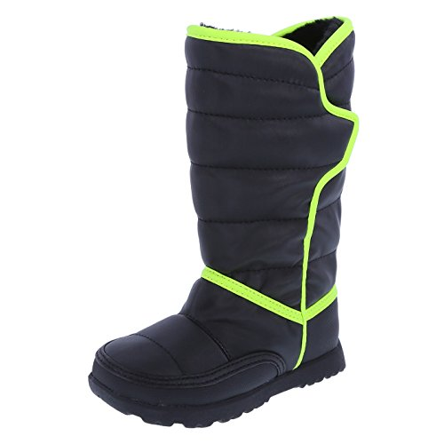 Rugged Outback Boys' Black Green Boys' Puffy Weather Boot 6 Regular