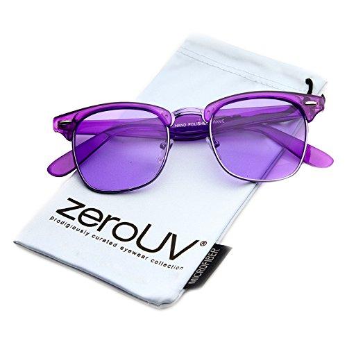 zeroUV - Vintage Inspired Classic Horn Rimmed Nerd Horn Rimmed UV400 Clear Lens Glasses (Colored | - Nerd Glasses Bans Ray