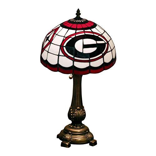 Table Angels Tiffany Lamp (The Memory Company NCAA Georgia Bulldogs Tiffany Table Lamp)
