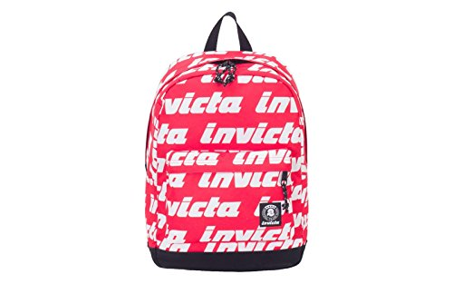 Backpack INVICTA - CARLSON - Lettering Red