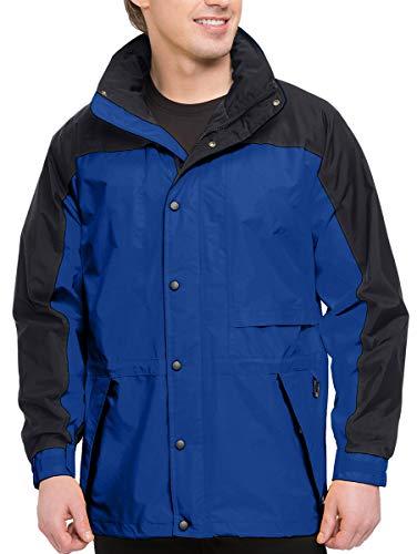 (Premium Quality Men's Tall Sizes 100% Toughlan Nylon Parka Climax Jacket - Imperial Blue/Black, 6XLT)