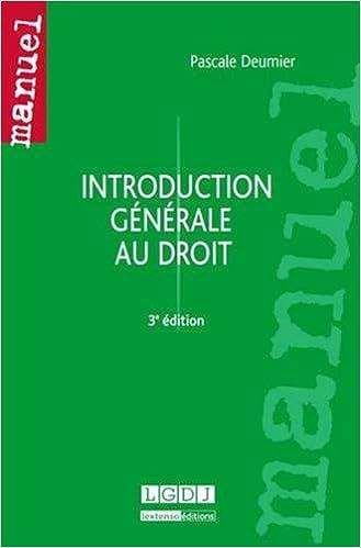 Livre gratuits en ligne Introduction générale au droit pdf, epub