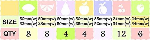 50 Mixed Fruit Fruit Fruit Vinyl Aufkleber Küche Kühlschrank Wand Fenster Auto-Dekoration Maßstab  1  1 - Chrome Colour B01LVWM95Y   Authentisch  4a9c13