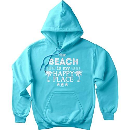 Island Jay The Original Beach is My Happy Place Soft Style Pullover Hoodie Scuba ()