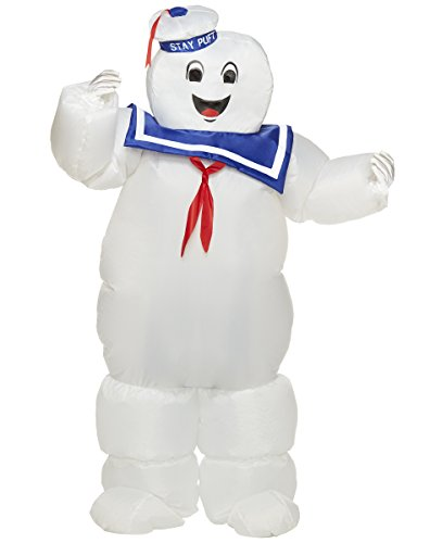 Stay Puft Marshmallow Man Kids Costume (Spirit Halloween Kids Stay Puft Ghostbusters Inflatable Costume | Officially)