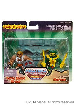 - Masters of the Universe Minis Battle Armor He-Man & Mer-Man Exclusive Mini Figure 2-Pack (Mattel Toys)