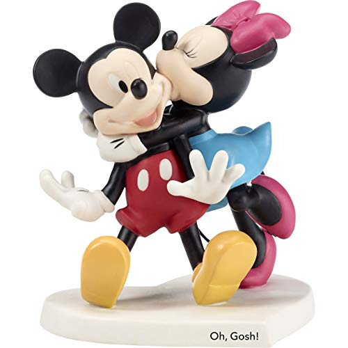 Precious Moments Disney Showcase Oh Gosh Mickey Mouse and Minnie Mouse Bisque Porcelain Figurine - Porcelain Disney