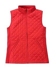 Bienzoe Women Casual Quilted Sleeveless Light Weight Vest