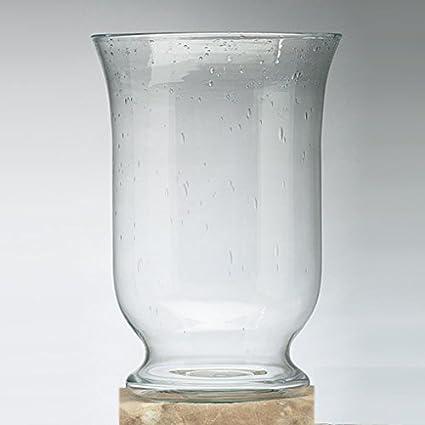 Amazon 125 Seeded Glass Pedestal Vase Home Kitchen