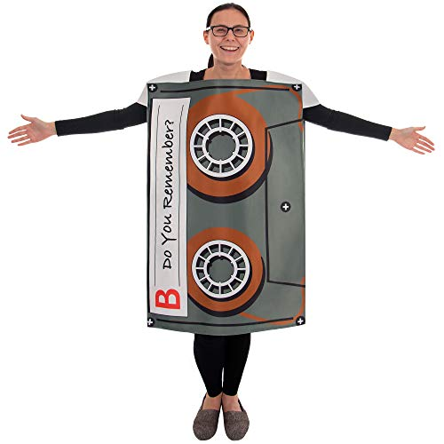 (Boo Inc. Cassette Mixtape Halloween Costume| Classic, Funny Adult, One-Size)