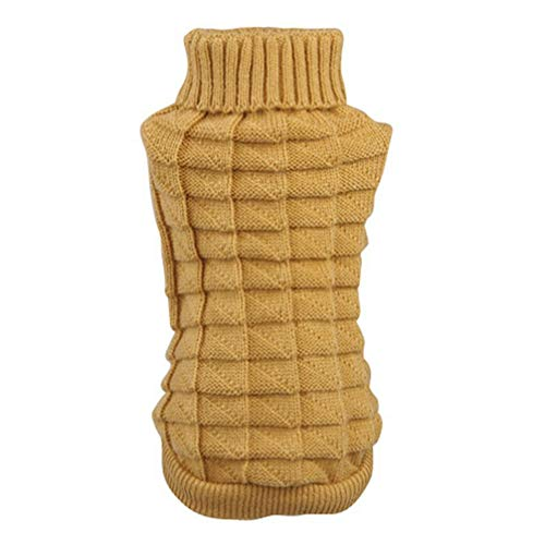 (MEIZOKEN Large Small Cute Pet Dog Knitwear Outdoor Warm Puppy Coats Sweater Clothes Jumper)