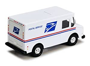 4.5-inch Diecast US Postal Service Mail Truck with Pullback Action