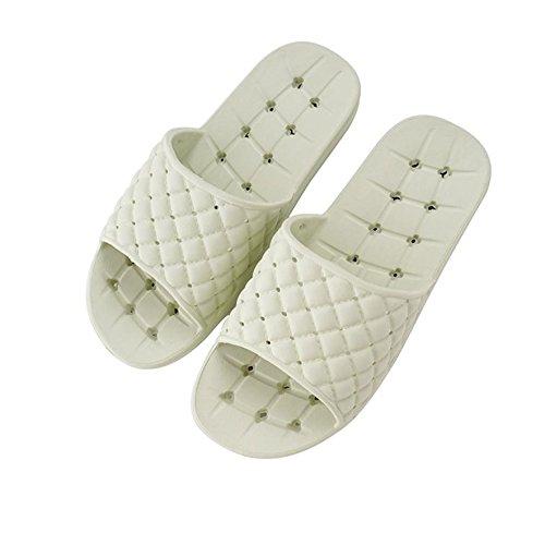 mhgao señoras Zapatillas Slip vaciamiento el baño ducha Zapatillas 3