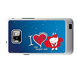 Generic Protective Back Phone Case For Girly Printing With Mashimaro For Samsung Galaxy S2 I9100 Choose Design 1