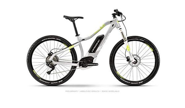 Haibike Sduro HardSeven Life 4.0 - Bicicleta eléctrica para mujer (27,5 pulgadas, talla M), color gris y amarillo: Amazon.es: Deportes y aire libre