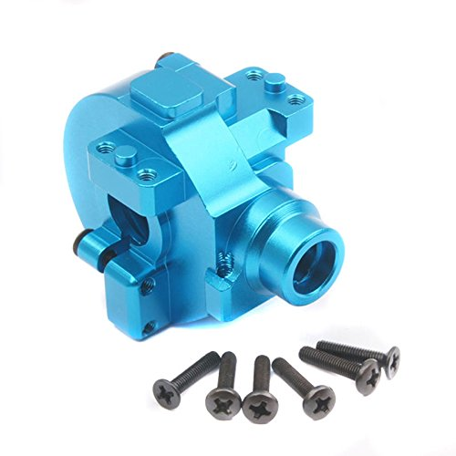(Shaluoman HSP 102075 Aluminum Gear Box with Screw 02051 RC 1:10th Upgrade Parts Blue)