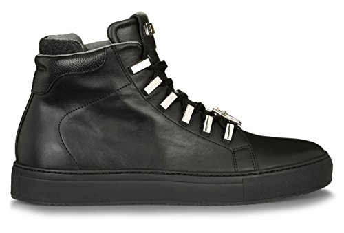 4US Cesare Paciotti QQLU7TRF Sneakers Uomo in Pelle a collo alto - Nero