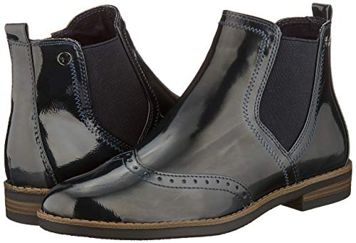 Tamaris Damen 1-1-25313-23 Chelsea Boots, Blau (Navy Patent 826), 38 EU 7