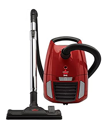 BISSELL 1668C Zing Bagged Canister Vacuum, Red