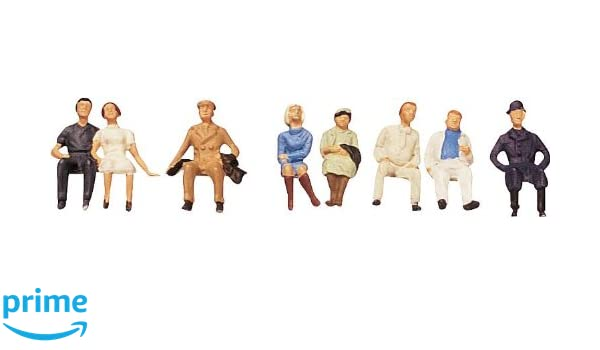 Amazon com: Faller 150702 Sitting Persons II 8/HO Scale