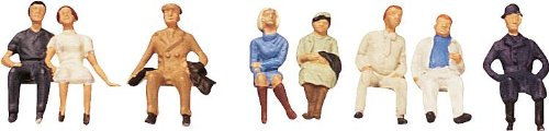 (Faller 150702 Sitting Persons II 8/HO Scale Figure Set)